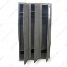 Шкаф одежный металлический трьохстворчатый